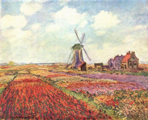 Landschaftsmalerei impressionismus  Tulpen von Holland von Claude Monet