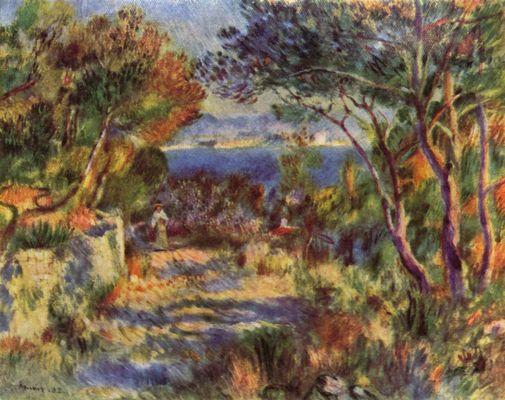 Landschaftsmalerei impressionismus  L'Estaque von Pierre-Auguste Renoir